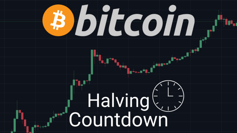 bitcoin halving countdown timer blockchain binance block half