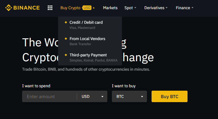 Fund Your Binance Account