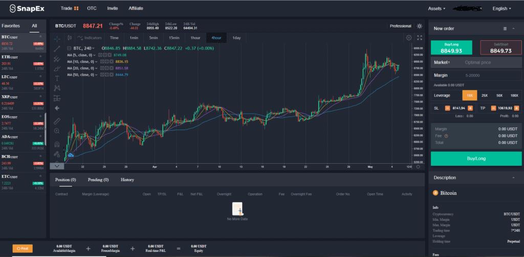 SnapEx trading platform