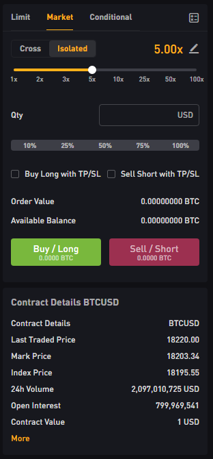 bybit buy/sell