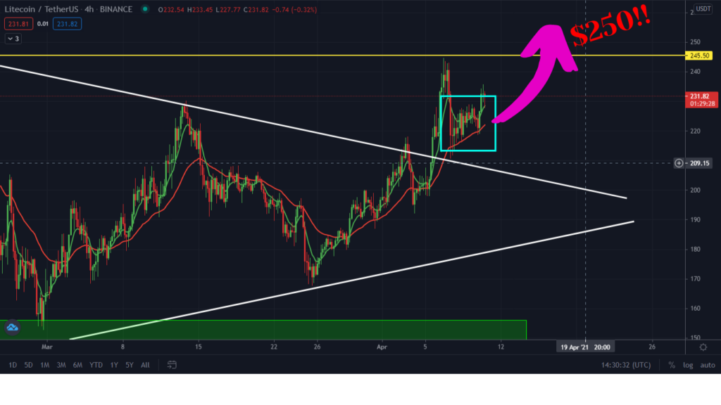 Altcoin Boom: Litecoin Playing Out As Predicted. Surge To $250 Next!