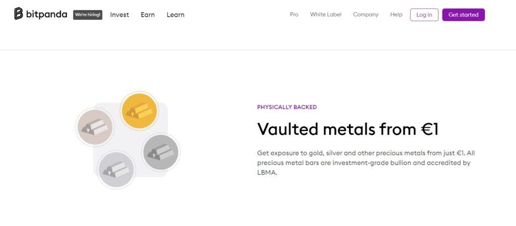 BitPanda Review on metals